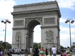 The Arc de Triomphe . . . commissioned by Napoleon.