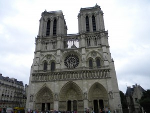 Western façade of the Cathedral of Notre Dame.