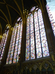 More stained glass in the Sainte Chapelle . . .