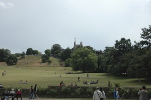 The Royal Observatory (as seen from the Queen's House and National Maritime Museum).