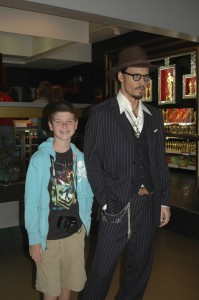 Acting cool with Johnny Depp!