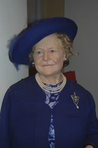 Queen Elizabeth II's mom, also named Elizabeth, and referred to affectionately as the Queen Mum.