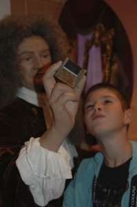 Studying a prism with Isaac Newton!