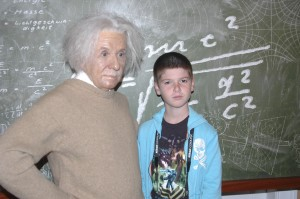 Thing 1 perplexed by Einstein's equations . . .