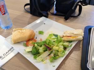 Our lunch at the Musée de l'Armée café.