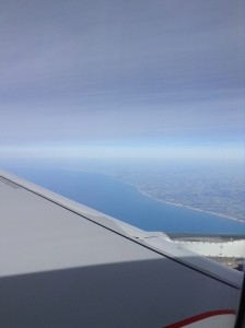 The French coastline from our plane window