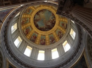 The dome under which Napoleon rests.