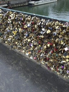 The locks on the bridge — there are tens of thousands of them!