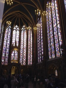 Some stained glass from the Sainte Chapelle . . .