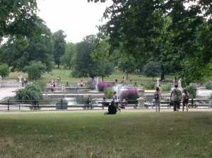 The fountains at Kensington Gardens and Hyde Park