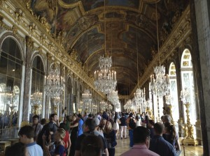 The Hall of Mirrors at Versailles, famous for many reasons, one of them being the location of the signing of the Treaty of Versailles that ended World War I.