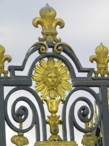 """The """"Sun King"""" motif was everywhere; Louis XIV, the Sun King, started the expansion of Versailles from """"hunting lodge"""" to the palace we know today."""