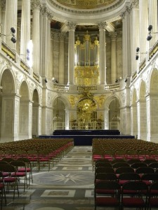 The chapel at Versailles, because all were deeply religious and attended church regularly.