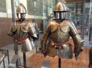 Medieval armor at the Musée de l'Armée