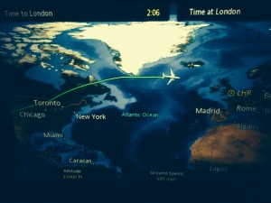 Our flight trajectory