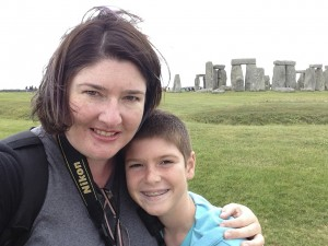 Selfie with Thing 1 at Stonehenge!