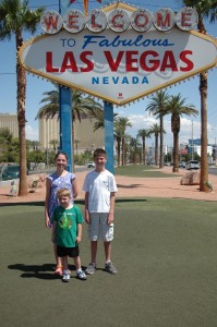 Yep, doing the touristy thing in Lost Wages . . . I mean, Las Vegas!